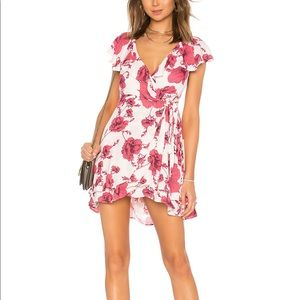 Free People French Quarter Floral Wrap Dress Large